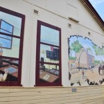 Murals on the walls of the Goomalling Museum